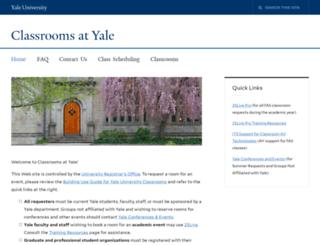 classrooms.yale.edu screenshot