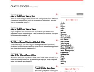 classyboozer.com screenshot