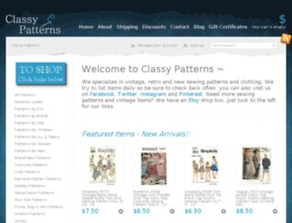 classypatterns.com screenshot
