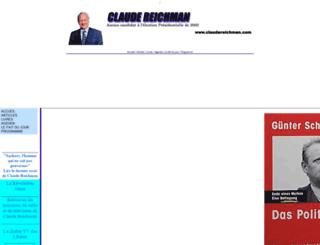 claudereichman.com screenshot