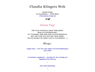 claudia-klinger.de screenshot