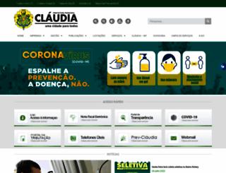 claudia.mt.gov.br screenshot