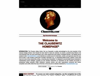 clausewitz.com screenshot