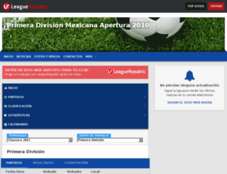 clausura2009.leaguerepublic.com screenshot