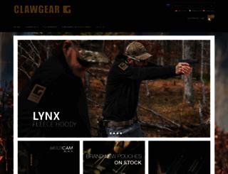 clawgear.com screenshot