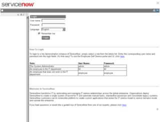 clawssc1.service-now.com screenshot