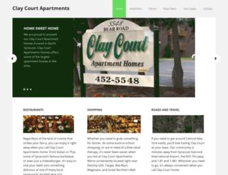 claycourtapartments.com screenshot