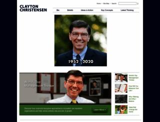 claytonchristensen.com screenshot