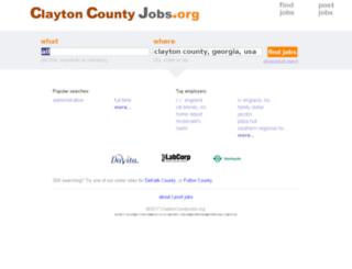 claytoncountyjobs.org screenshot