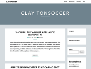 claytonsoccer.net screenshot