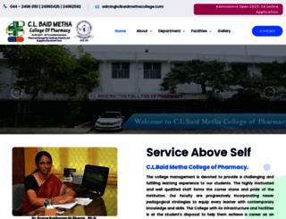 clbaidmethacollege.com screenshot