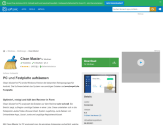 clean-master-for-pc.softonic.de screenshot