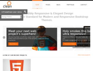 clean.themeleaf.com screenshot