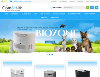 cleanair4life.com screenshot