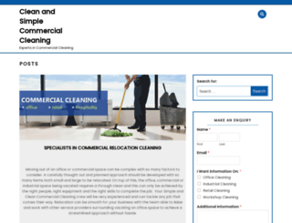 cleanandsimplecommercialcleaning.com.au screenshot