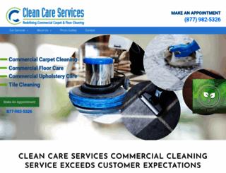 cleancareservices.com screenshot