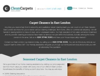 cleancarpets-eastlondon.co.uk screenshot