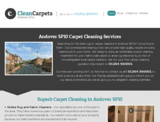 cleancarpetsandover.co.uk screenshot