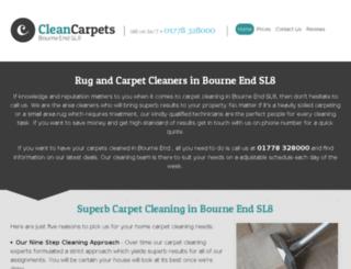 cleancarpetsbourneend.co.uk screenshot