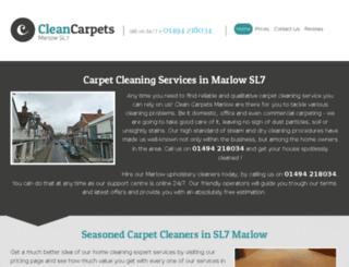 cleancarpetsmarlow.co.uk screenshot