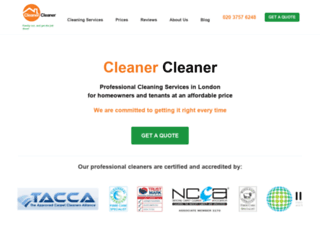 cleanercleaner.co.uk screenshot