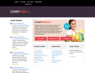 cleanerfinder.co.uk screenshot