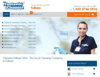 cleaners-fulham.co.uk screenshot