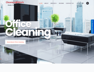 cleanersatwork.com.au screenshot