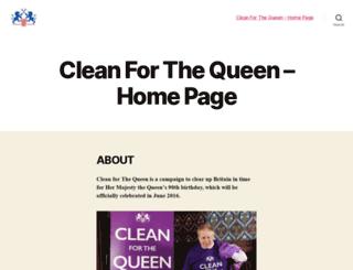 cleanforthequeen.co.uk screenshot