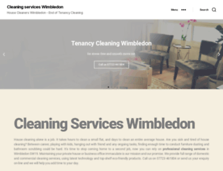 cleaning-services-wimbledon.co.uk screenshot