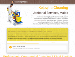 cleaningmaster.ca screenshot