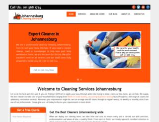 cleaningservices-johannesburg.com screenshot