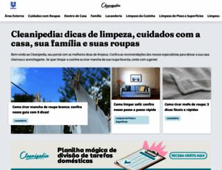 cleanipedia.com.br screenshot