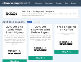 cleanlycoupons.com screenshot