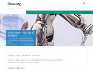 cleanmanufacturing.fraunhofer.de screenshot
