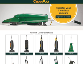 cleanmaxvacuums.com screenshot