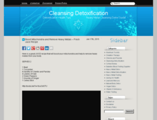 cleansingdetoxification.info screenshot