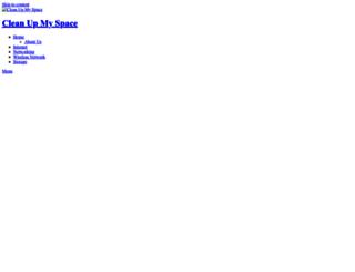 cleanupmyspace.com screenshot
