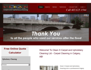 cleanxcalgary.com screenshot
