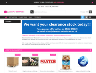 clearancewholesale.co.uk screenshot