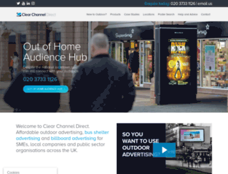 clearchanneldirect.co.uk screenshot