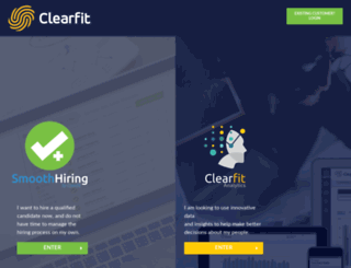 clearfit.com screenshot