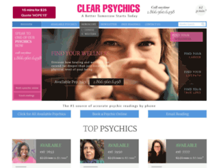 clearpsychics.com screenshot