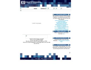 clearspanmedia.com screenshot