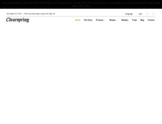 clearspring.co.uk screenshot