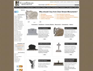 clearstreammonuments.com screenshot