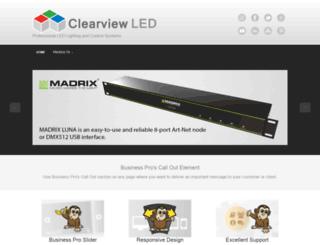 clearviewled.co.uk screenshot