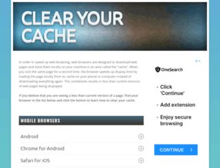 clearyourcache.com screenshot