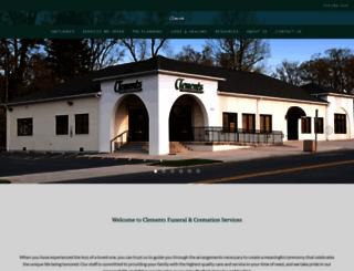 clementsfuneralservice.com screenshot