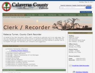 clerk.calaverasgov.us screenshot